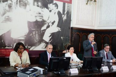 Gadelha apresenta as ações da Fiocruz em visita de autoridades da OMS, Opas e Ministério da Saúde (foto: Peter Ilicciev)